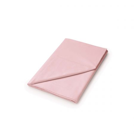 50/50 Plain Dye Percale Double Flat Sheet, Blush