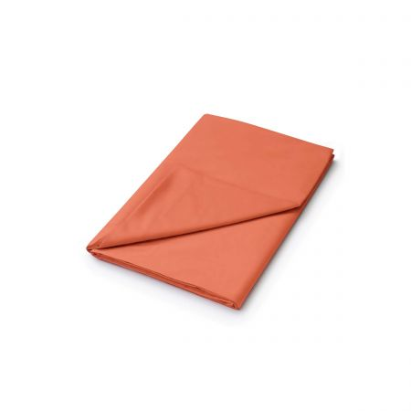 50/50 Plain Dye Percale Double Flat Sheet, Coral