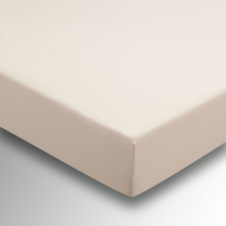 50/50 Plain Dye Percale Double Fitted Sheet - Linen