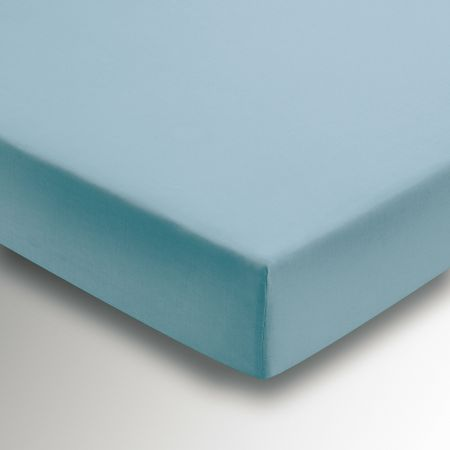 50/50 Plain Dye Percale Single Fitted Sheet, Ocean