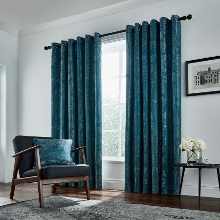 Roma Lined Curtains, Emerald
