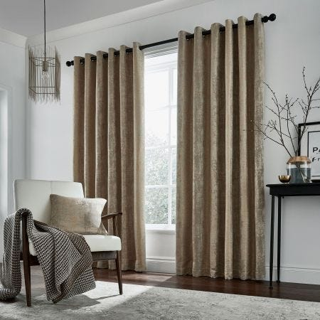 Roma Lined Curtains, Truffle