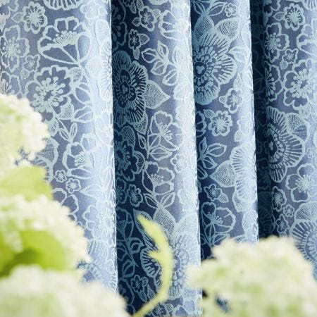 Sylvie Blue Lined Curtains