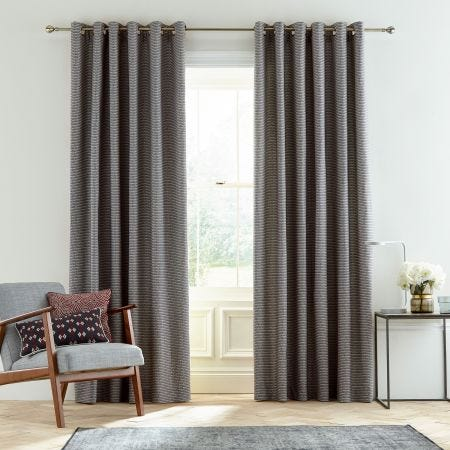 Amaya Charcoal Lined Curtains