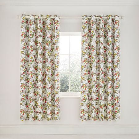 April Lined Curtains Spring Green