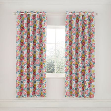 Mary Jane Lined Curtains Duck Egg