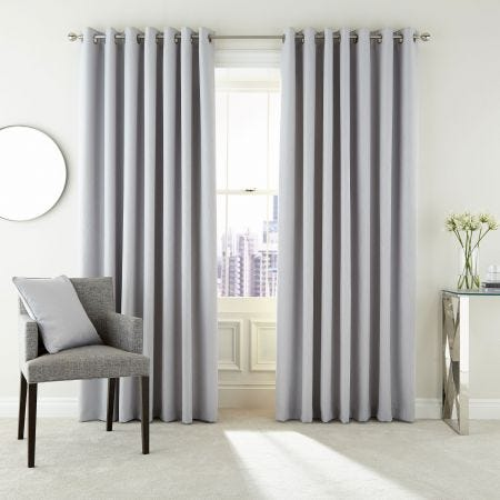 Barcelo Silver Lined Eyelet Curtains