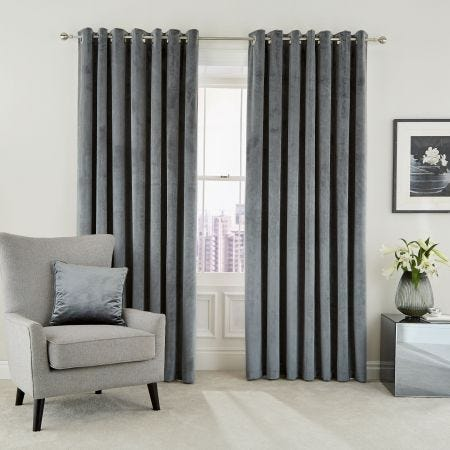 Escala Steel Lined Eyelet Curtains