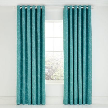 Scion Baja Funky Teal Curtains