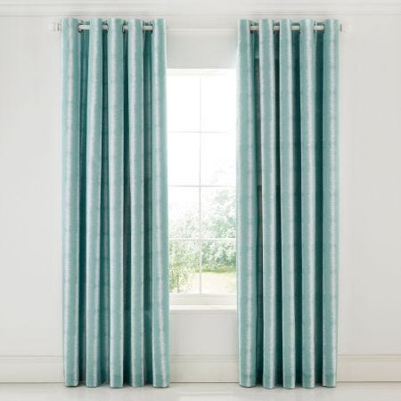 Akira Lined Aqua and Ivory Curtains by Scion