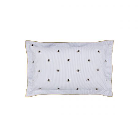 Botanical Bee Blue Oxford Pillowcase