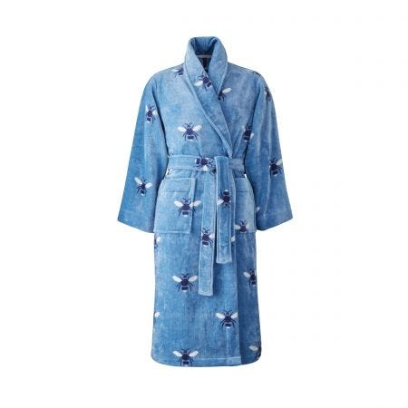 Botanical Bee Dressing Gowns, Pale Blue
