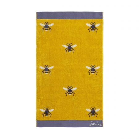 Gold Botanical Bee Towel