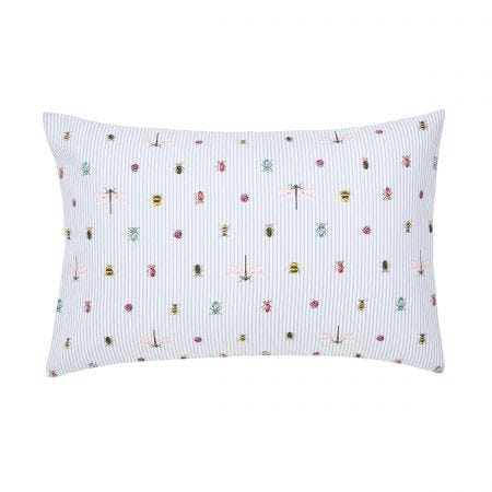 Botanical Bugs Pair of Housewife Pillowcases Chalk
