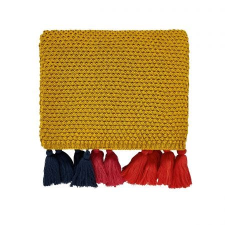 Cambridge Knitted Throw Antique Gold