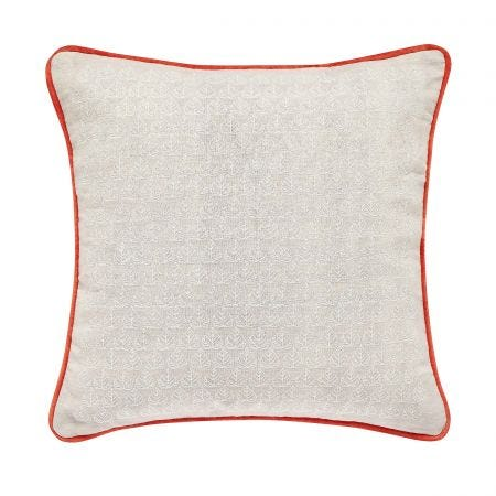 Country Leaf Cushion Linen Front