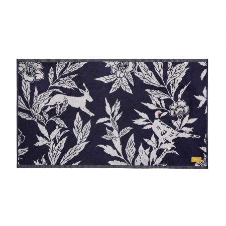 Country Critters Bath Mat, Navy