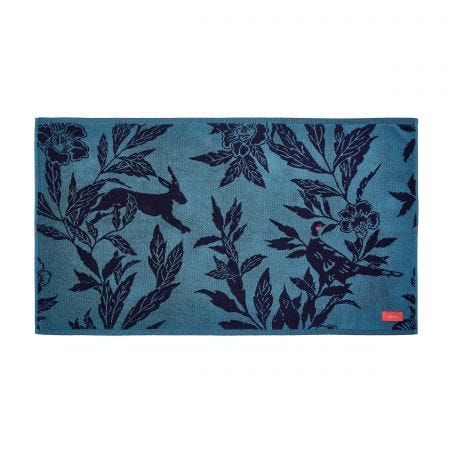 Country Critters Bath Mat, Teal