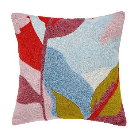 Abstract Floral Cushion Multi Front