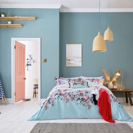 Falmouth Light Blue Floral Bedding