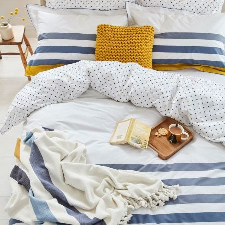 Galley Grade Stripe Comet Bedding