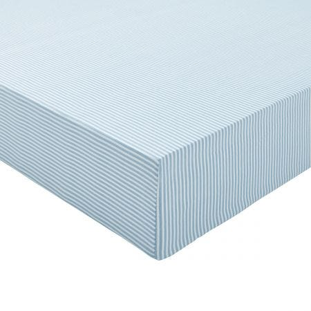 Melrose Floral Double Fitted Sheet, Blue