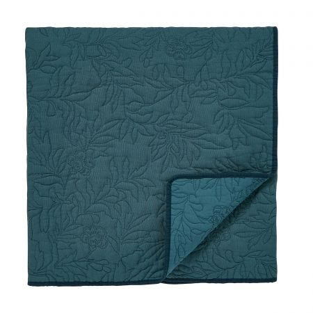 Modern Heritage Quilted Throw Teal