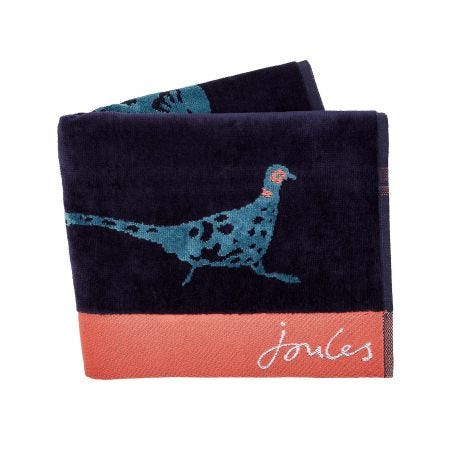 Pheasant Bath Sheet, Teal