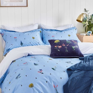 Pollinators Bedding Haze Blue