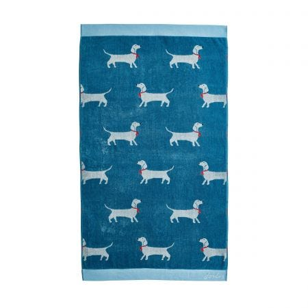 Sausage Dog Blue Towels