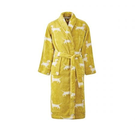 Sausage Dogs Dressing Gowns, Gold