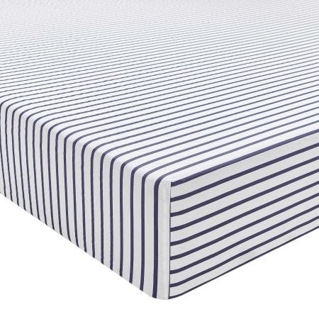 St Ives Fitted Sheet French Navy