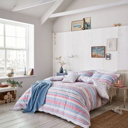 Summer Fruit Stripe Bedding