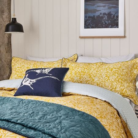Twilight Ditsy Floral Bedding Gold by Joules