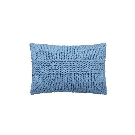 Be Still Chunky Cushion 60cm x 40cm, Blue
