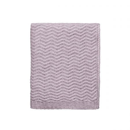 Calm Knitted Throw, Pink/Lilac