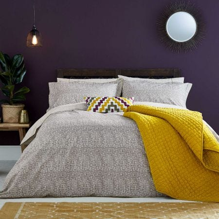 Koba Charcoal Grey Bedding