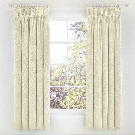 Lara Lined Curtains, Ivory