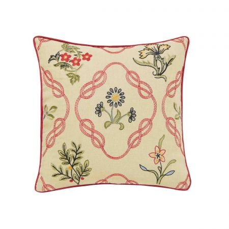 Strawberry Thief Cushion, Crimson