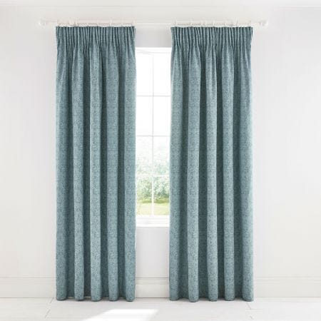 Little Chintz Teal Lined Curtains