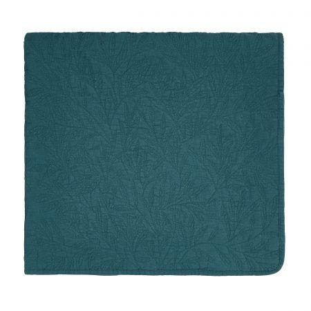 Little Chintz Teal Matelasse Throw