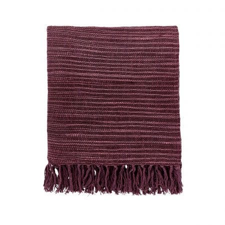 Seasons By May Woven Throw Aubergine