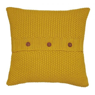 Moss Stitch Knitted Cushion Gold