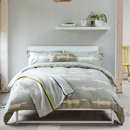 Scion Mr Fox Bedding In Silver