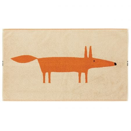 Mr Fox Bath Mats - Tangerine