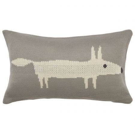 Mr Fox Cushion Silver