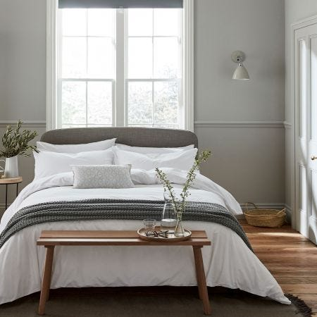 Calm Luxury Plain White Stonewashed Bedding