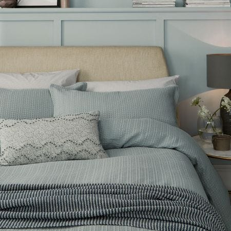 Dabble Double Duvet Cover, Lough Green