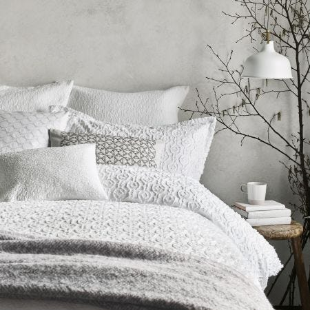 Nara White Bedding