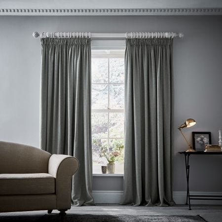 Niki Cloud Grey Lined Curtains